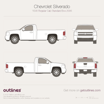 2006 Chevrolet C/K Regular Cab Standard Box Pickup Truck blueprint