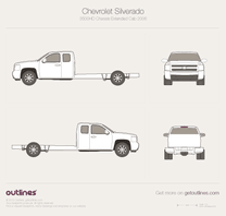 2006 Chevrolet Shakebody 3500HD Chassis Extended Cab Pickup Truck blueprint