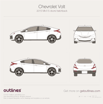 2015 Chevrolet Volt II 5-doors Hatchback blueprint