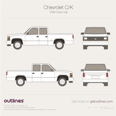 1987 Chevrolet C/K Mk IV Pickup Truck blueprints and drawings