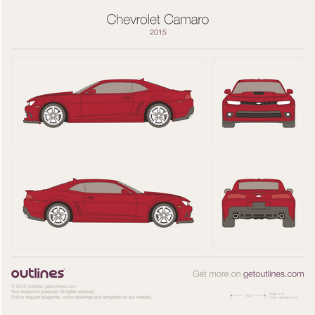 2015 Chevrolet Camaro Coupe blueprints and drawings