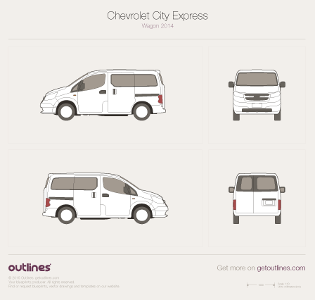 2014 Chevrolet City Express Wagon blueprint