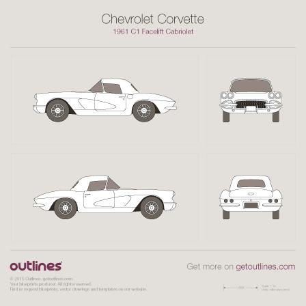 1961 Chevrolet Corvette С1 Cabriolet blueprints and drawings