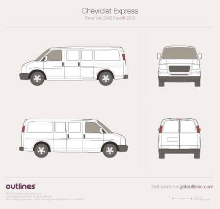 2003 Chevrolet Express Prisoner Police SWB Facelift Wagon blueprint