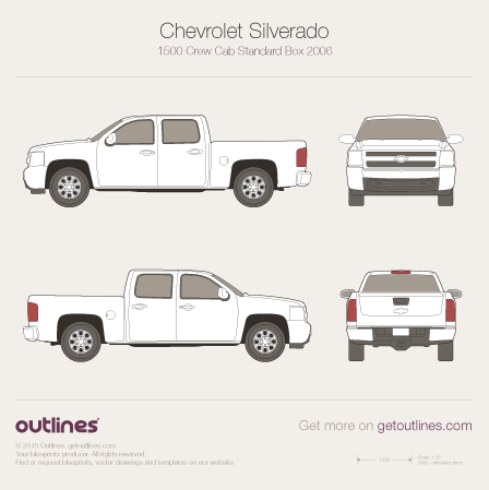 2006 Chevrolet Silverado 1500 Pickup Truck blueprints and drawings