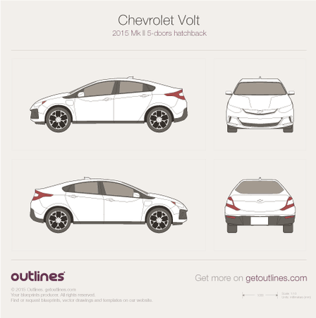 2015 Chevrolet Volt II 5-doors Hatchback drawings