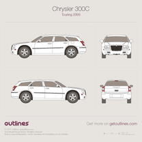2005 Chrysler 300 Touring Wagon blueprint