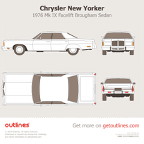 1976 Chrysler New Yorker Brougham Mk IX Facelift Sedan blueprint