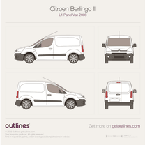 2008 Citroen Berlingo Panel Van L1 Van blueprint