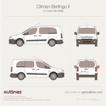 2008 Citroen Berlingo Multispace L2 Minivan blueprint