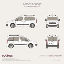 2015 Citroen Berlingo Combi L1 Facelift Wagon blueprint