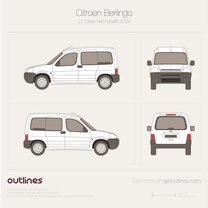 2002 Citroen Berlingo Combi L1 Facelift Wagon blueprint