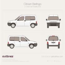 2002 Citroen Berlingo Combi L1 Facelift Wagon blueprint