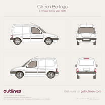 1996 Citroen Berlingo Panel Crew Van L1 Van blueprint