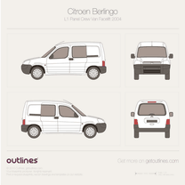 2002 Citroen Berlingo Panel Crew Van L1 Facelift Van blueprint