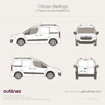 2015 Citroen Berlingo Panel Crew Van L1 Facelift Van blueprint