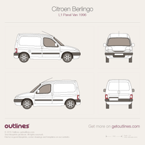 1996 Citroen Berlingo Panel Van L1 Van blueprint