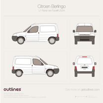 2002 Citroen Berlingo Panel Van L1 Facelift Van blueprint