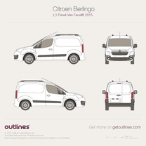 2015 Citroen Berlingo Panel Van L1 Facelift Van blueprint