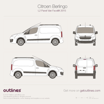 2015 Citroen Berlingo Panel Van L2 Facelift Van blueprint