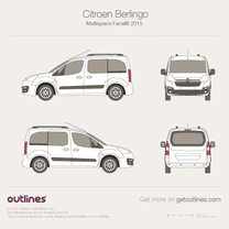 2015 Citroen Berlingo Multispace Facelift Minivan blueprint