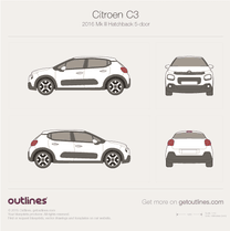 Citroen C3 blueprint