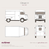 1947 Citroen Type H Van blueprint