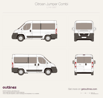 2006 Citroen Jumper Combi L1 H1 Wagon blueprint