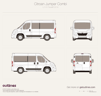 2014 Citroen Relay Combi L1 H1 Facelift Wagon blueprint