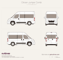 2014 Citroen Jumper Combi L1 H2 Facelift Wagon blueprint
