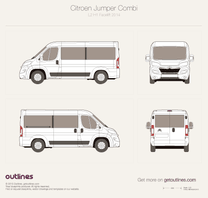 2014 Citroen Relay Combi L2 H1 Facelift Wagon blueprint