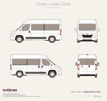 2014 Citroen Relay Combi L2 H2 Facelift Wagon blueprint