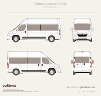 2014 Citroen Relay Combi L3 H3 Facelift Wagon blueprint