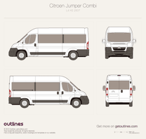 2007 Citroen Jumper Combi L4 H2 Wagon blueprint