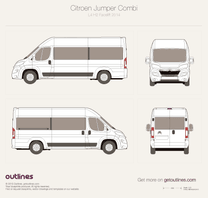2014 Citroen Jumper Combi L4 H2 Facelift Wagon blueprint