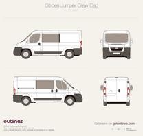 2007 Citroen Jumper Crew Cab L2 H1 Wagon blueprint