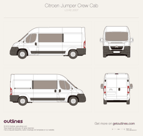 2007 Citroen Jumper Crew Cab L3 H2 Van blueprint