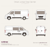 2014 Citroen Jumper Crew Cab L2 H1 Facelift Wagon blueprint