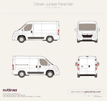 2014 Citroen Jumper Panel Van L1 H1 Facelift Van blueprint