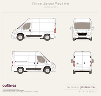 2014 Citroen Relay Panel Van L1 H2 Facelift Van blueprint