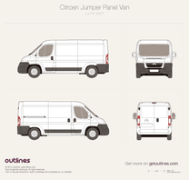 2007 Citroen Jumper Panel Van L2 H1 Van blueprint