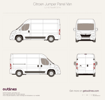 2014 Citroen Jumper Panel Van L2 H2 Facelift Van blueprint