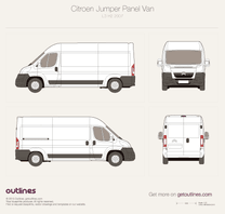 2007 Citroen Jumper Panel Van L3 H2 Van blueprint