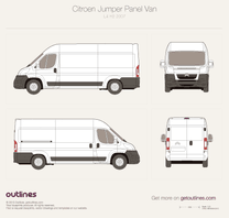 2007 Citroen Jumper Panel Van L4 H2 Van blueprint