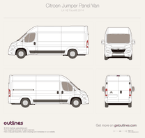 2014 Citroen Jumper Panel Van L4 H2 Facelift Van blueprint