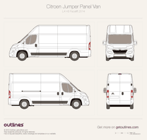 2014 Citroen Jumper Panel Van L4 H3 Facelift Van blueprint