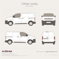 2016 Citroen Dispatch Mk III L1 Van blueprint