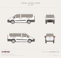 2007 Citroen Dispatch Combi L2 H1 Minivan blueprint
