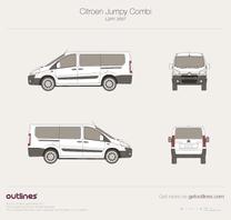 2007 Citroen Jumpy Combi L2 H1 Minivan blueprint