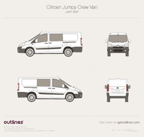 2007 Citroen Jumpy Crew Van L2 H1 Van blueprint